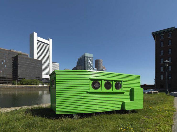 La casa più piccola del mondo a Boston (Foto hyperallergic.com)