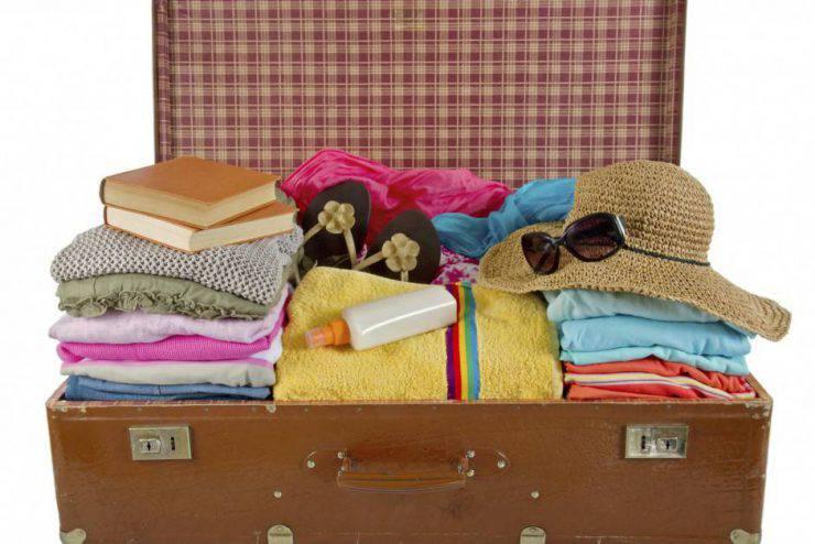 pulire valigia