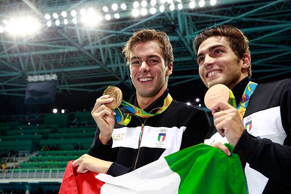 Paltrinieri e Detti (Photo by Adam Pretty/Getty Images)
