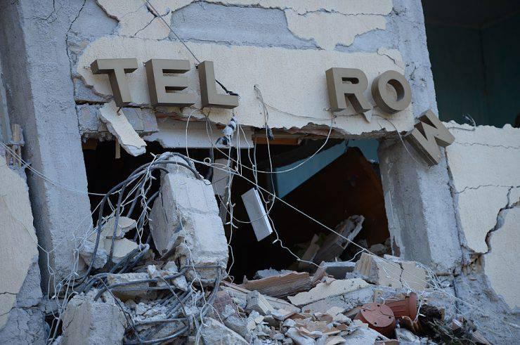 Hotel Roma di Amatrice dopo il terremoto del 24 agosto 2016 (FILIPPO MONTEFORTE/AFP/Getty Images)
