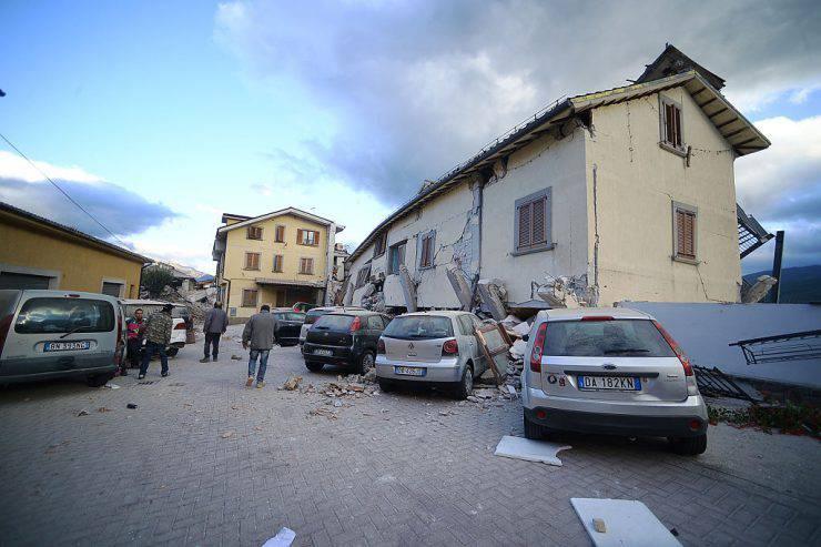 L'Hotel Roma di Amatrice dopo il terremoto (FILIPPO MONTEFORTE/AFP/Getty Images)