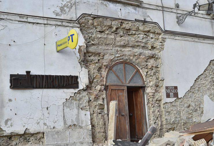 Arquata dl Tronto, ufficio postale (Giuseppe Bellini/Getty Images)