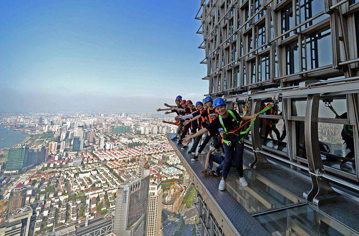 Balcone della Jinmao Tower di Shanghai (STR/AFP/Getty Images)