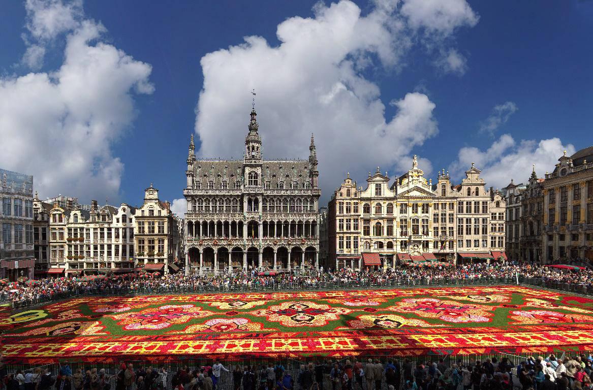 Tappeto Floreale Bruxelles : Tappeto floreale messicano sulla grand place a bruxelles la