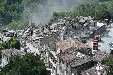 Pescara del Tronto, Ascoli Piceno, terremoto 24 agosto 2016 (Giuseppe Bellini/Getty Images)