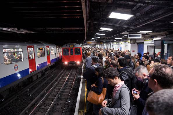 LONDON, ENGLAND - APRIL 30:  Commuters Getty Images)