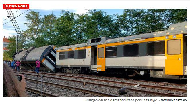 incidente ferroviario in spagna