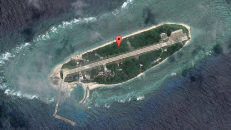 L'isola di Itu Aba o Taiping Island (Google Maps)