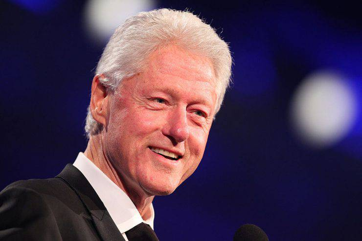 """ST. PAUL, MN - JULY 24:  Former President Bill Clinton attends the Starkey Hearing Foundation's """"So The World May Hear Awards Gala"""" 2011 at River Centre on July 24, 2011 in St. Paul, Minnesota. (Photo by Adam Bettcher/Getty Images for Starkey Hearing Foundation)"""