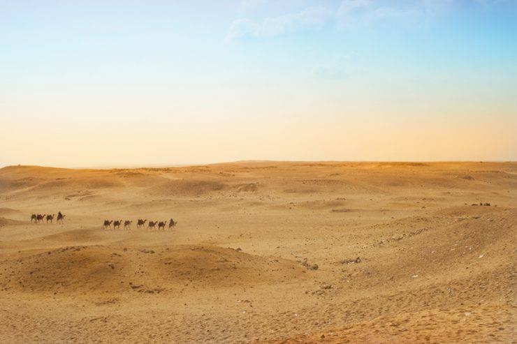 Deserto Egitto, altopiano di Giza (iStock)