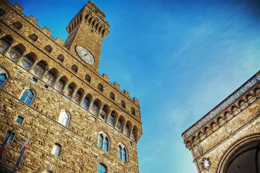 Firenze Palazzo Vecchio e Loggia dei Lanzi