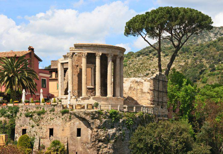 Roman temple in Tivoli, Italy.