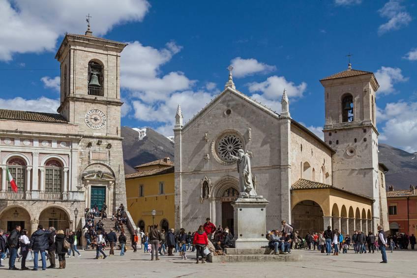 La Basilica di San Benedetto a Norcia
