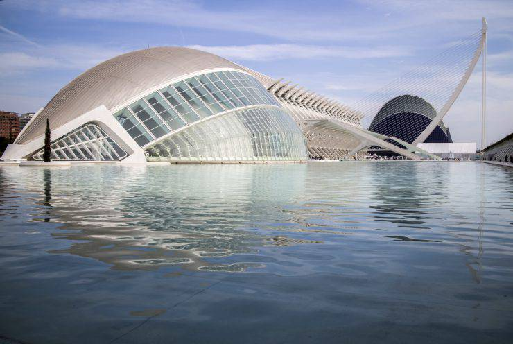 Modern Science Center in city of the Arts ,Valencia, Spain