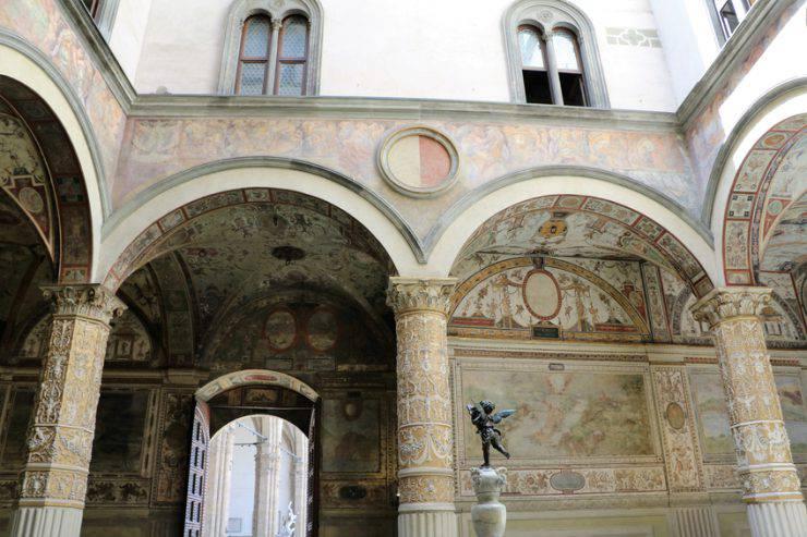 Il cortile di Palazzo Vecchio, Firenze (iStock)