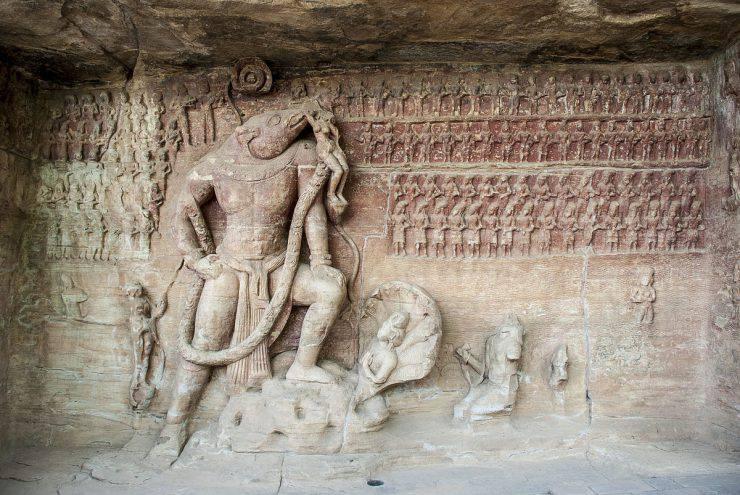 Grotte di Udayagiri, Visnu come Varaha India