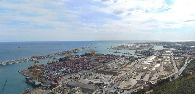 Barcellona, porto (Wikicommons)
