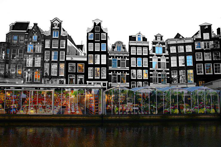 Bloemenmarkt, Amsterdam (zak mc, Flickr, , CC BY-SA 2.0, Wikipedia)
