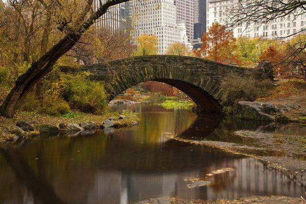 Gapstow Bridge, Central Park, New York (Bryan Schorn, GFDL, Wikicommons)