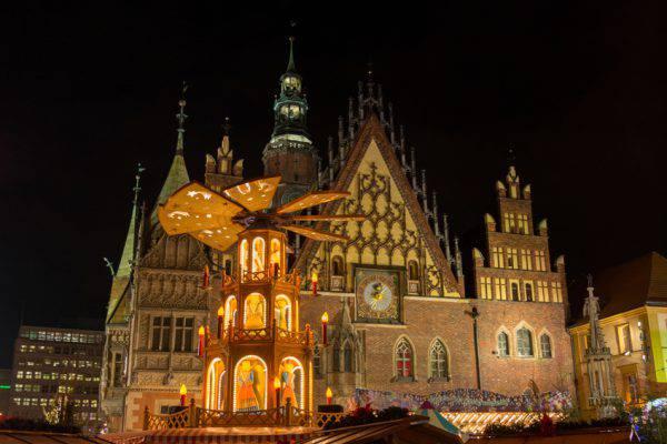Natale a Breslavia, Wroclaw, Polonia (iStock)
