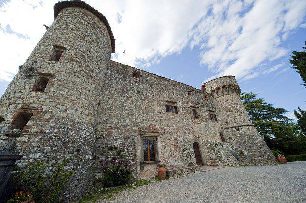 Castello di Meleto, Gaiole in Chianti (Vignaccia76, CC BY-SA 3.0, Wikipedia)