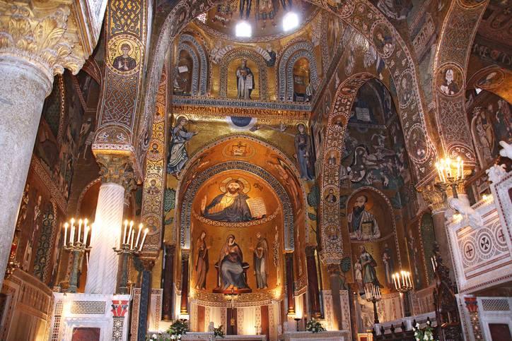Cappella Palatina, Palazzo Reale in Palermo in Sicilia,