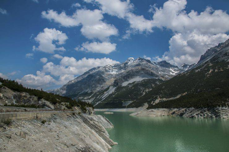 Cancano lakes in Italy