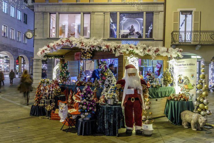 Lugano at Christmas, Switzerland