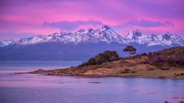 Terra del Fuoco, alba su Ushuaia, Argentina (iStock)