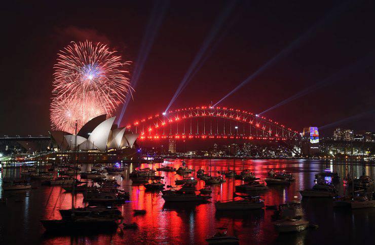È già arrivato il 2017 in Australia, festeggiamenti a Sydney