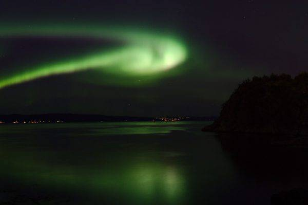 Aurora boreale a Þingvellir, Isòanda (Foto Pexels)