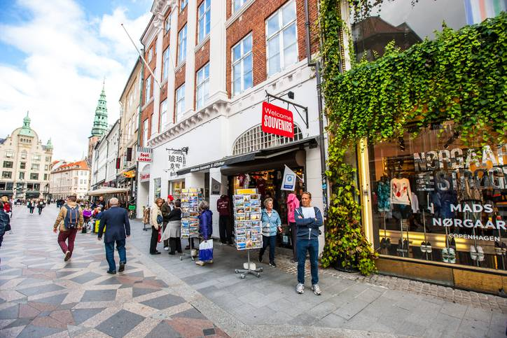 Copenaghen, negozi (iStock)