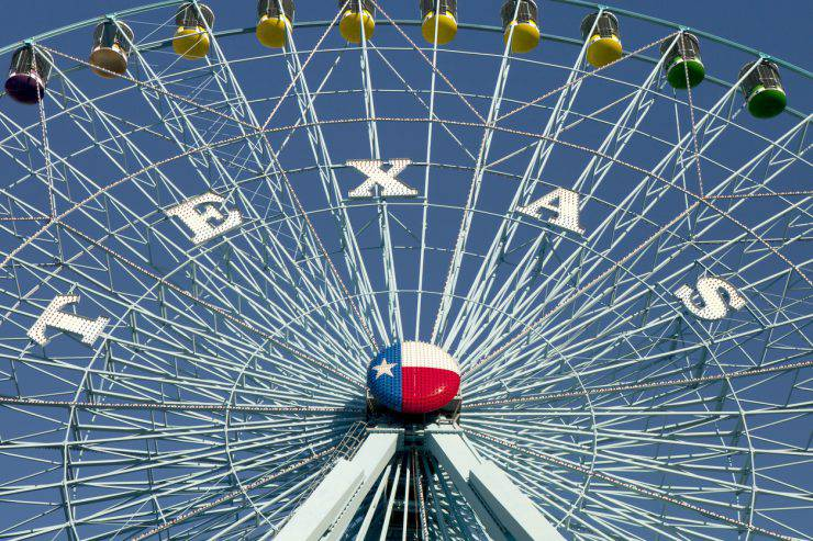Ferris wheel at the Texas State Fair in Dallas TX
