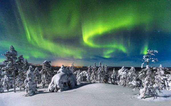Aurora boreale a Luosto, Finlandia (iStock)