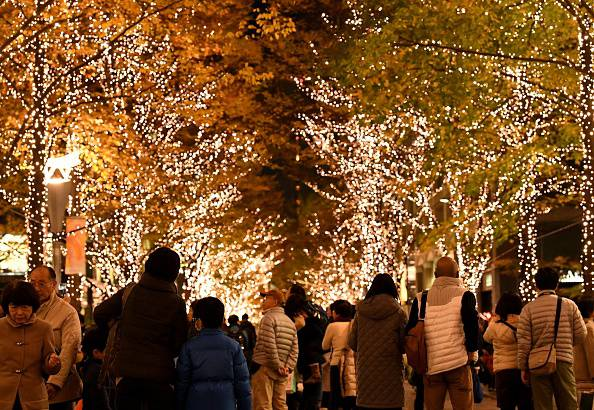 Luci di Natale a Tokyo (TOSHIFUMI KITAMURA/AFP/Getty Images)
