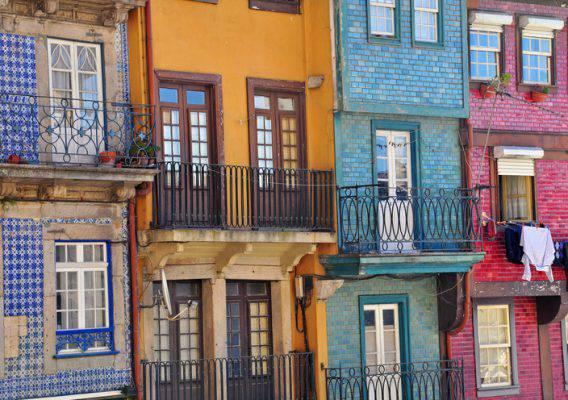 Palazzi colorati di Porto, Portogallo