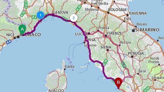 In bicicletta dalla Francia a Roma