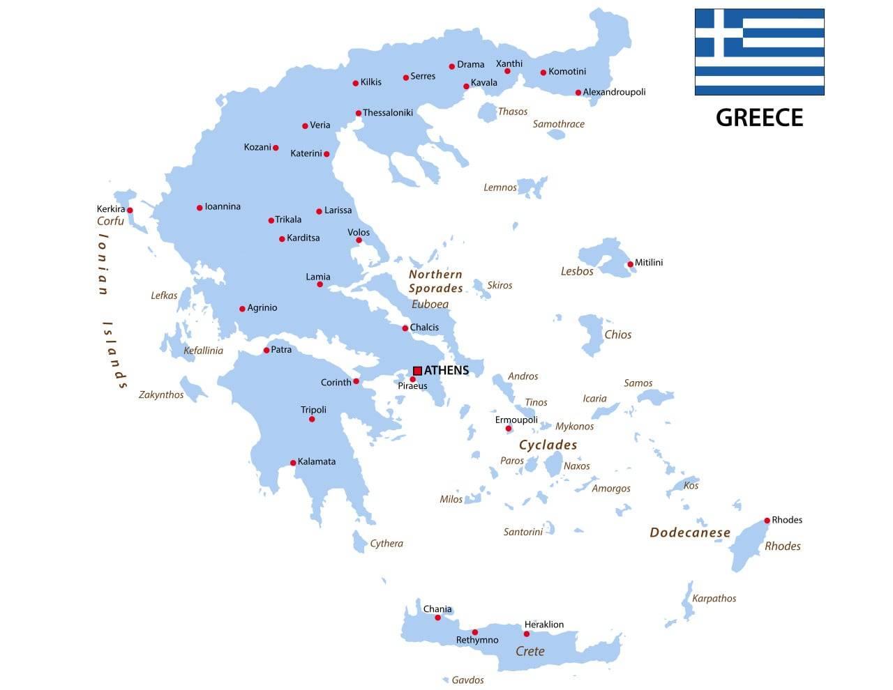 isole grecia mappe