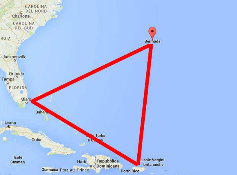 Triangolo delle Bermuda fonte google maps