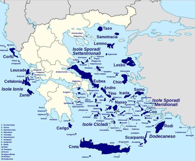 Paxos Cartina Geografica.Isole Della Grecia Gli Arcipelaghi E Le Mappe Tutte Le Informazioni