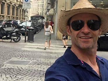 Hugh Jackman a Firenze foto facebook