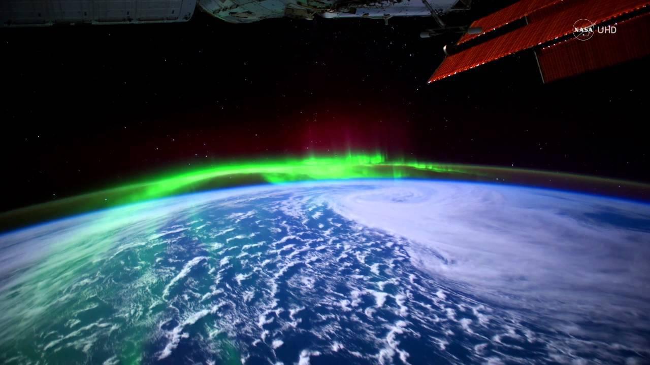 L'aurora boreale vista dallo spazio fonte NASA