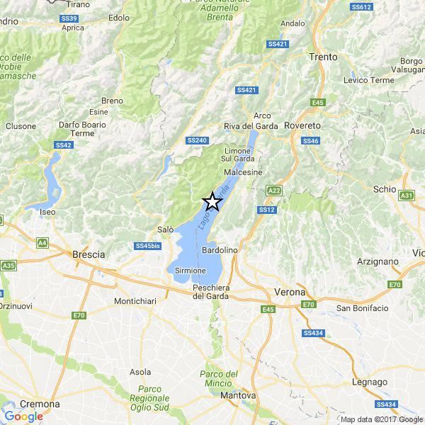 Terremoto sul lago di Garda: scossa avvertita distintamente anche a Verona