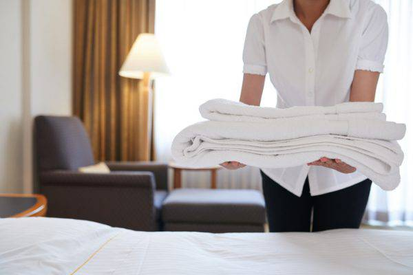 utilizzo asciugamani hotel