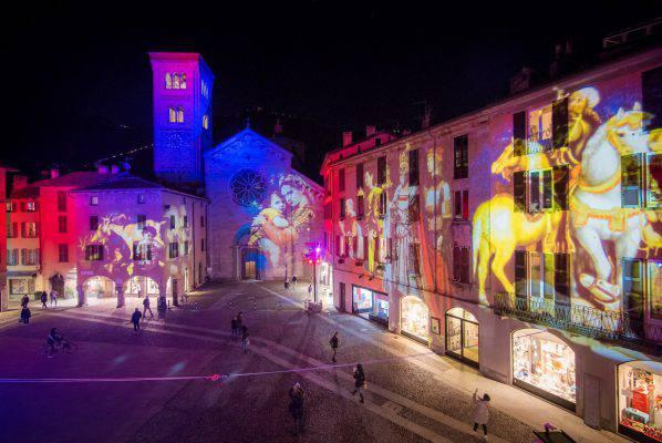 Il festival delle luci a como magic light festival
