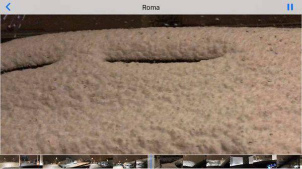 15 cm di neve a ROma