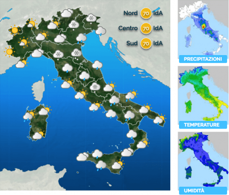 Attesi rovesci e temporali al Centro Sud, neve in Appennino, dettagli