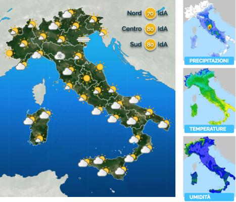 Previsioni Meteo Italia Prossimi Giorni Febbraio