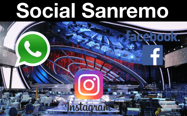 Sanremo Facebook Whatsapp Instagram
