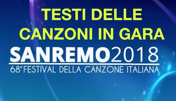 Sanremo 2018 Testi canzoni